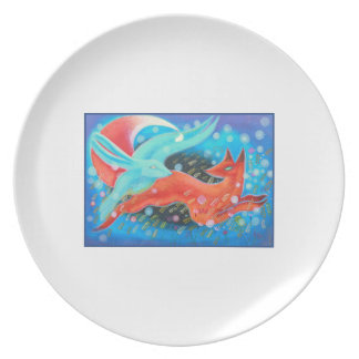 Picture of Animals, A fox and A Hare. Plate