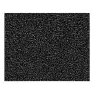 Picture of Black Leather. 11.5 Cm X 14 Cm Flyer