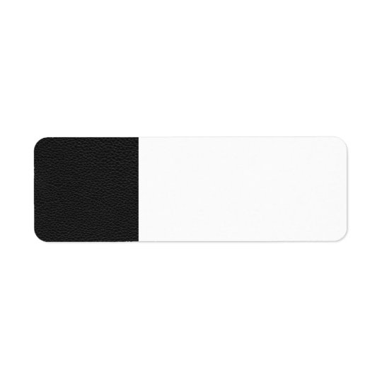 Picture of Black Leather. Return Address Label