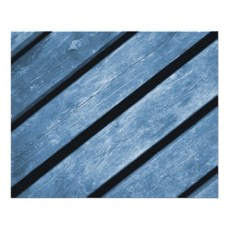 Picture of Blue Wood Planks Flyers