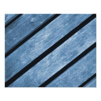 Picture of Blue Wood Planks 11.5 Cm X 14 Cm Flyer