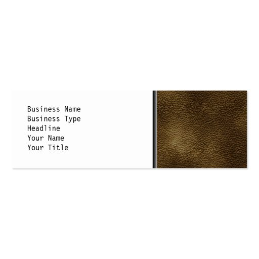 Picture of Brown Leather. Double-Sided Mini Business Cards (Pack Of 20)