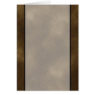 Picture of Brown Leather. Card