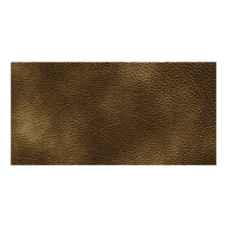 Picture of Brown Leather. Photo Greeting Card