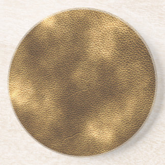 Picture of Brown Leather. Sandstone Coaster