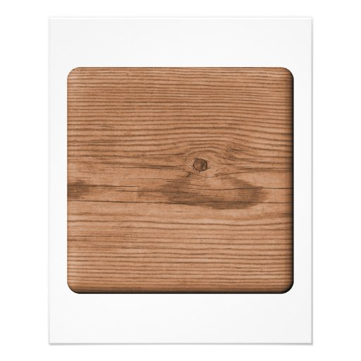 Picture of Brown Wood. Custom Flyer