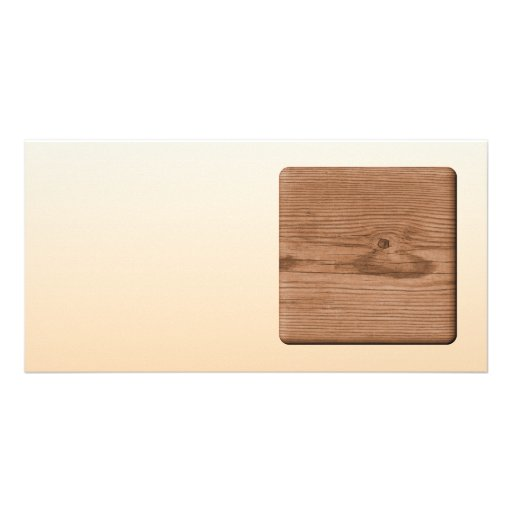 Picture of Brown Wood. Customized Photo Card