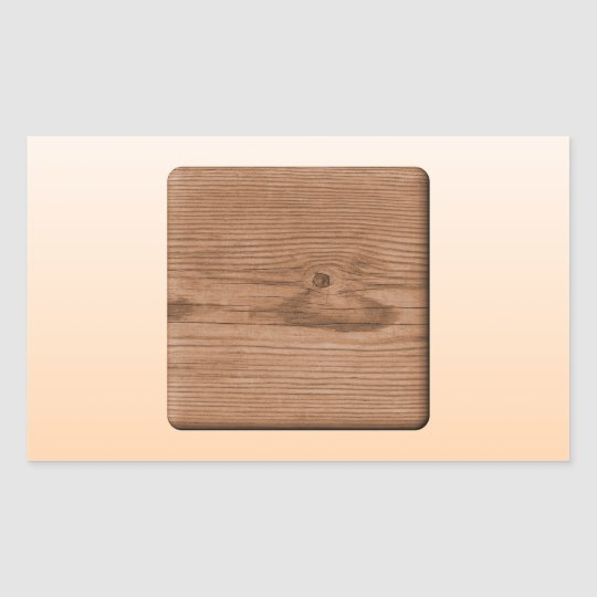 Picture of Brown Wood. Rectangular Sticker