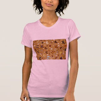 Picture of Butterflies on sand with shells Tee Shirts