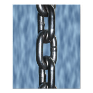 Picture of Chain on Blue Background 11.5 Cm X 14 Cm Flyer