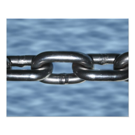 Picture of Chain on Blue Background Flyer Design