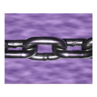 Picture of Chain on Purple Background 11.5 Cm X 14 Cm Flyer