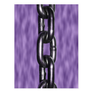 Picture of Chain on Purple Background Postcard