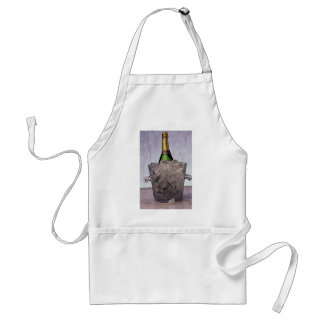 Picture of Champagne in glass ice bucket Standard Apron