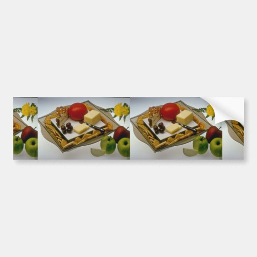 Picture of Cheese on a platter Bumper Sticker