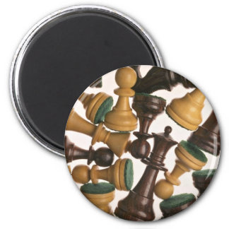 Picture of Chess pieces 6 Cm Round Magnet