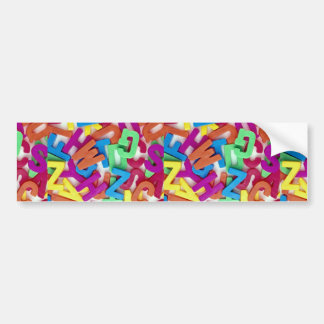 Picture of Colorful plastic letters Bumper Stickers