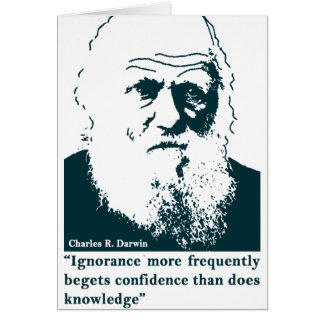 Picture of Darwin and mentions. English Note Card