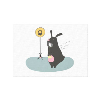 Picture of disguised Girl of Rabbit Canvas Print