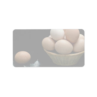 Picture of Eggs arranged in a bowl Address Label