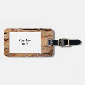 Picture of Fossilized Wood. Luggage Tag