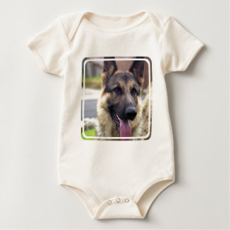 Picture of German Shepherd  Infant Baby Bodysuit