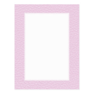 Picture of Light Pink Leather Postcards