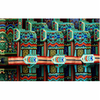 Picture of many colors and images in temple standing photo sculpture