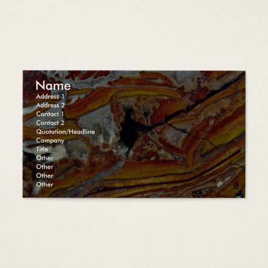 Picture of Orange and yellow jasper Business Card
