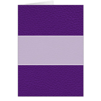 Picture of Purple Leather. Card