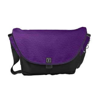 Picture of Purple Leather. Courier Bag
