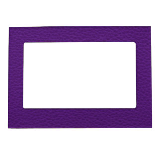 Picture of Purple Leather. Magnetic Picture Frame