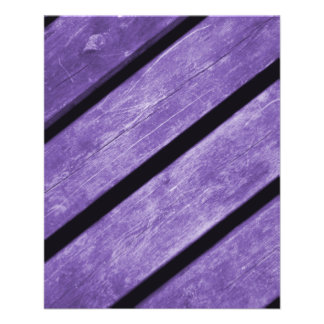 Picture of Purple Planks of Wood Full Color Flyer