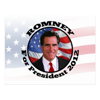 Picture of Romney, Vote for President 2012 Postcard