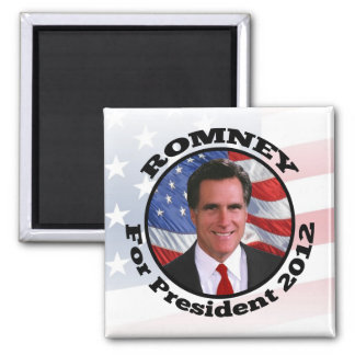 Picture of Romney, Vote for President 2012 Square Magnet