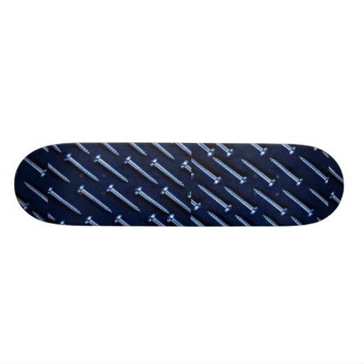 Picture of Rows of metal screws Skateboards