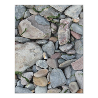 Picture of stones on a beach. invitation