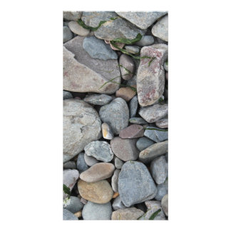 Picture of stones on a beach. photo card template