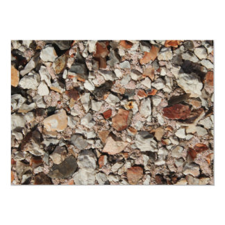 Picture of Stones on a Wall. 13 Cm X 18 Cm Invitation Card