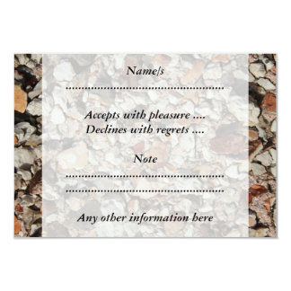 Picture of Stones on a Wall. 9 Cm X 13 Cm Invitation Card