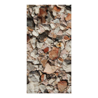 Picture of Stones on a Wall. Photo Card Template