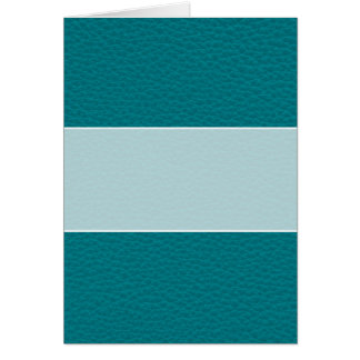Picture of Teal Leather. Card