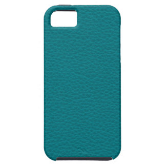 Picture of Teal Leather. iPhone 5 Case
