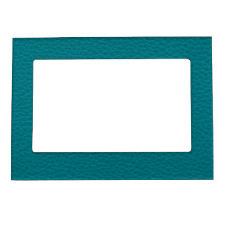 Picture of Teal Leather. Magnetic Picture Frame
