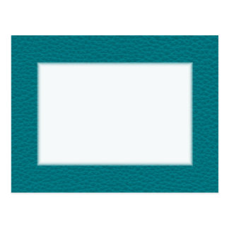 Picture of Teal Leather. Postcard