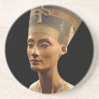 Picture of the Nefertiti Bust in Neues Museum Beverage Coaster