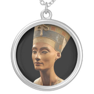 Picture of the Nefertiti Bust in Neues Museum Round Pendant Necklace