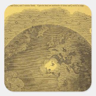 Picture of the World Square Sticker