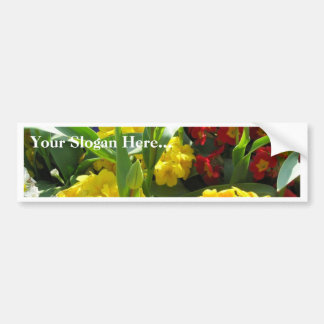 Picture Of Various Flowers In Blossom Bumper Sticker