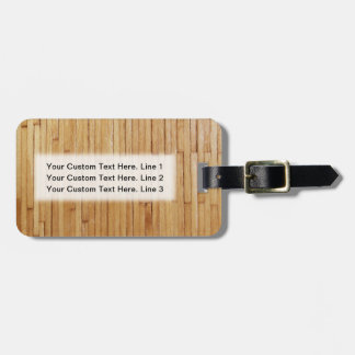 Picture of Varnished Pieces of Wood Luggage Tag